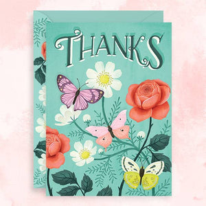 Zesti - Greeting Card - Thanks - Butterflies