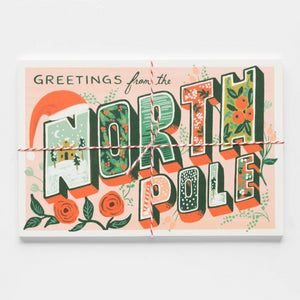 Rifle Paper Co. - Postcard - 10 Pack - Greetings from the North Pole