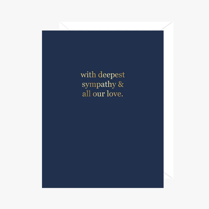 Paper Hearts - Greeting Card - Foil - With Deepest Sympathy & All Our Love