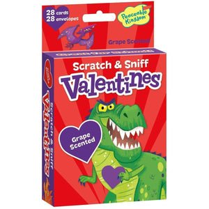 Peaceable Kingdom Wacky Dinosaurs Scratch & Sniff Valentines