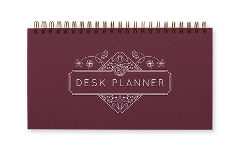 Ruff House Art - Weekly Planner - Bulb Flowers - Burgundy