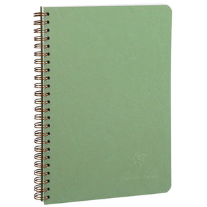 Clairefontaine - Notebook - Coiled - A5 - Green