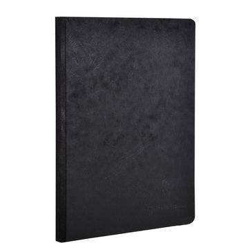 Clairefontaine - Notebook - Cloth Spine - A5 - Black