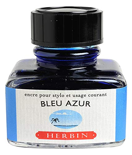 J. Herbin - Ink - 30ml Bottle - Bleu Azur