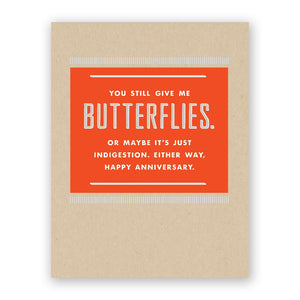 Mincing Mockingbird - Greeting Card - You Still Give Me Butterflies