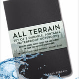 Peter Pauper - Notebook - 3 Pack - All Terrain Waterproof - Black