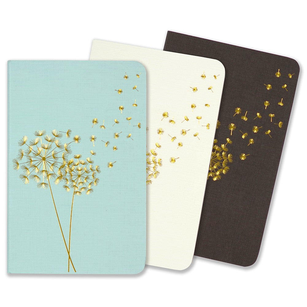 Peter Pauper Notebook 3 Pack - Jotter Mini - Dandelion Wishes