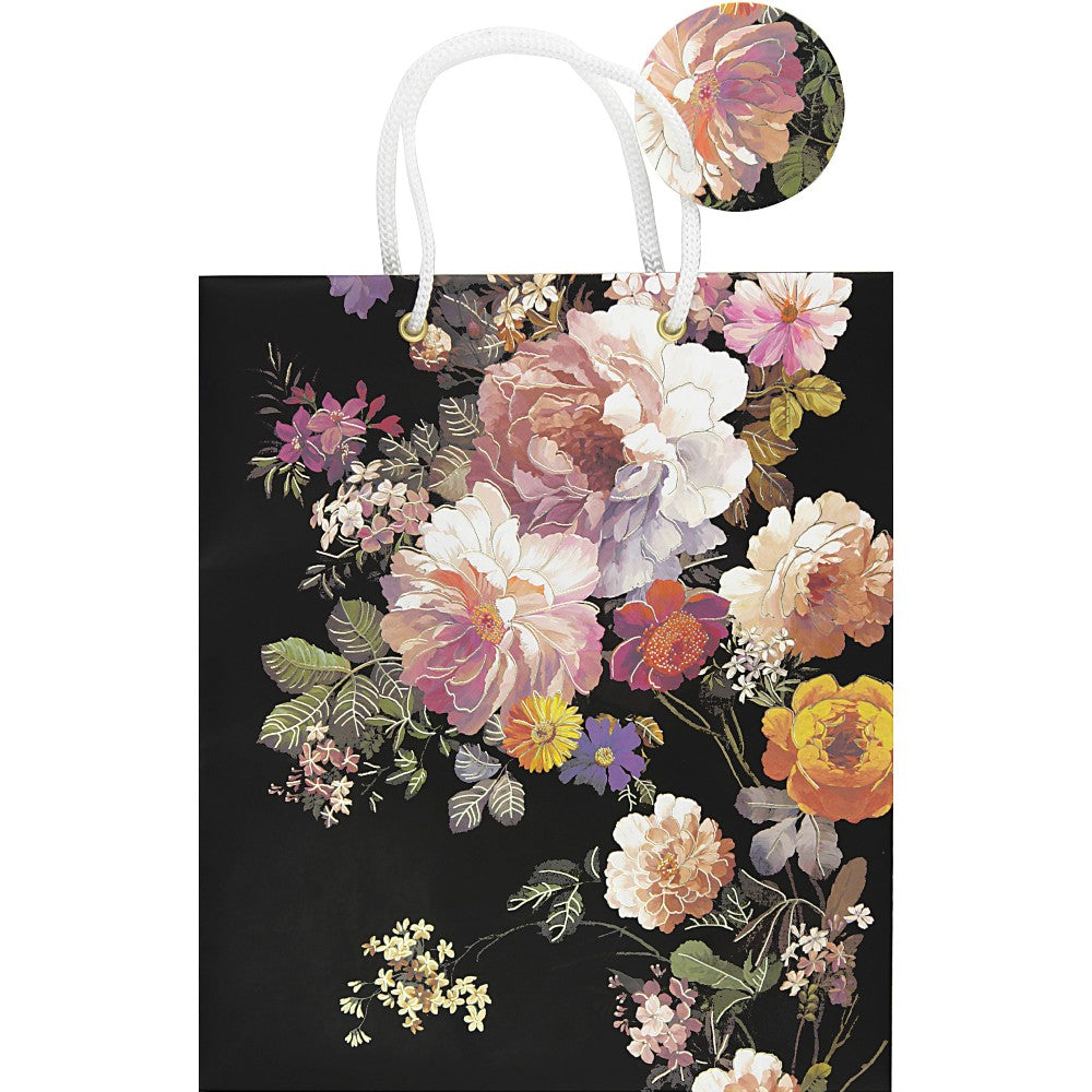 Peter Pauper Press - Gift Bag - Midnight Floral