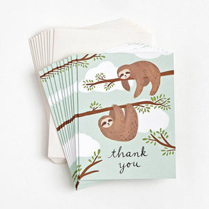Boxed Notes - Thank You Sloths