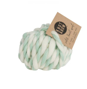 Knot & Bow - Wool - Mint + White