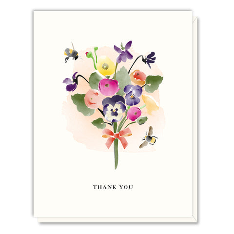 Driscoll Design - Boxed Notes - Thank You - Pansy Bouquet