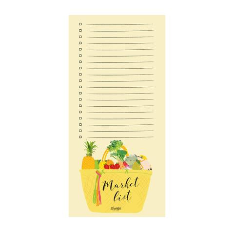 Lili Graffiti - Notepad - Market List - Grocery Basket