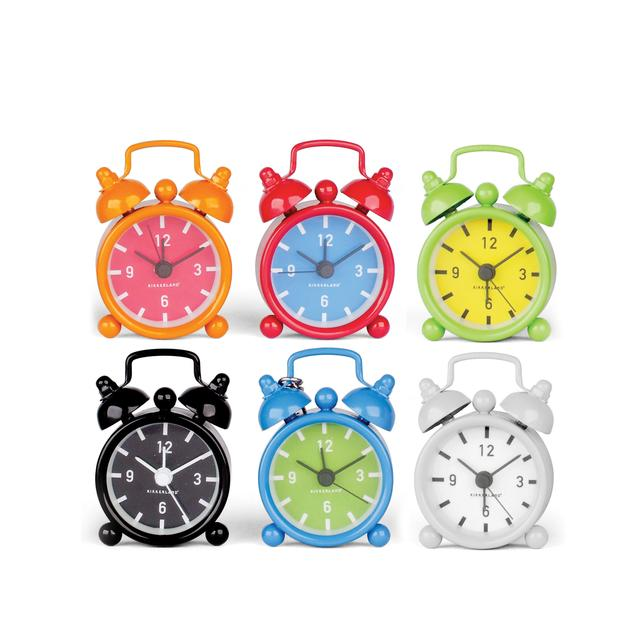 Kikkerland - Alarm Clock - Mini Bell - Assorted Colours
