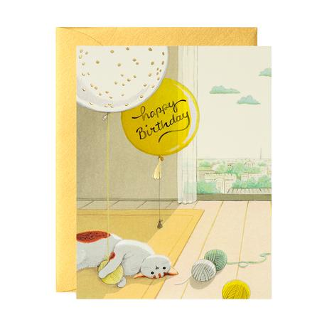 Joojoo Paper - Greeting Card - Happy Birthday - Cat