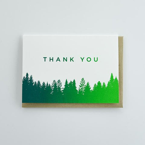Pike Street Press - Greeting Card - Thank You - Treeline