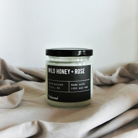 Foxhound Collection - Candle - Black Label - Wild Honey + Rose