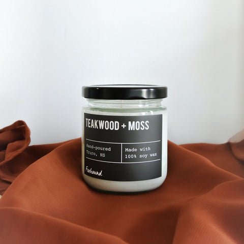 Foxhound Collection - Candle - Black Label - Teakwood + Moss