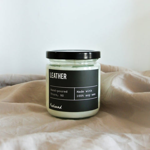 Foxhound Collection - Candle - Black Label - Leather