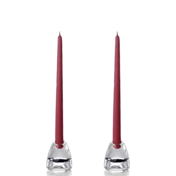 "Set of 12"" Taper Candles - Raspberry"