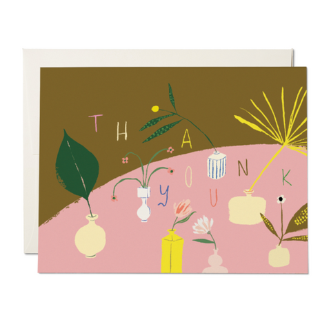 Red Cap Cards - Greeting Card - Thank You - House Plants