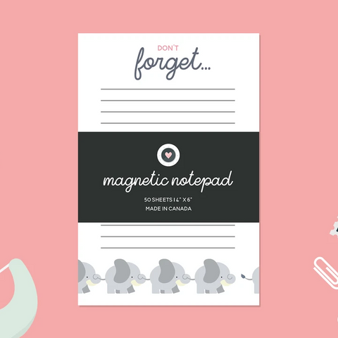 Paper Hearts - Notepad - Don't Forget - Elephants