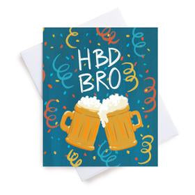 Meaghan Smith Creative - Greeting Card - HBD Bro