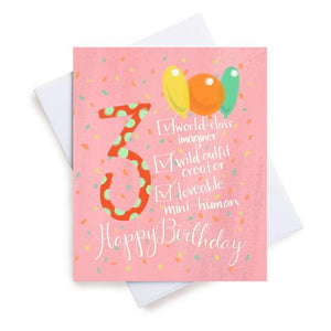 Meaghan Smith Greeting Card - Age 3 Checklist