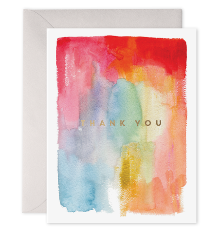 E Frances - Greeting Card - Thank You - Rainbow Watercolour