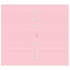 Filofax - Refill - Personal - Ruled - Pink