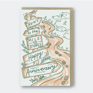 Pike Street Press Greeting Card - Here's To The Milestones Happy Anniversary