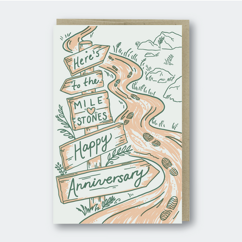 Pike Street Press - Greeting Card - Here's To The Milestones - Happy Anniversary