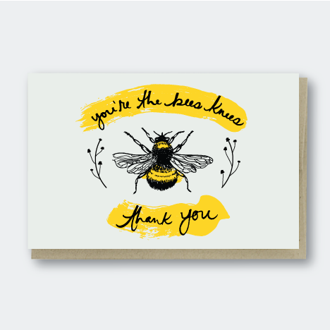 Pike Street Press - Greeting Card - You're The Bee's Knees - Thank You