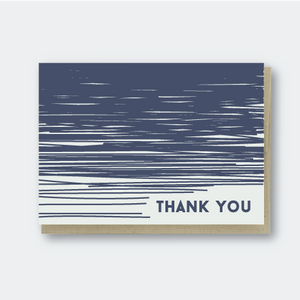 Pike Street Press - Greeting Card - Thank You - Navy Lines
