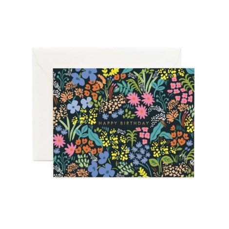 Rifle Paper Co. - Greeting Card - Birthday - Dark Meadow Floral