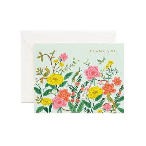 Rifle Paper Co. - Greeting Card - Thank You - Shanghai Garden