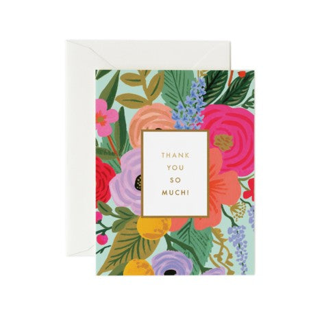 Rifle Paper Co. - Greeting Card - Thank You - Thank You So Much - Garden Party