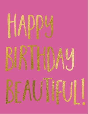 Random Cards - Greeting Card - Birthday - Happy Birthday Beautiful