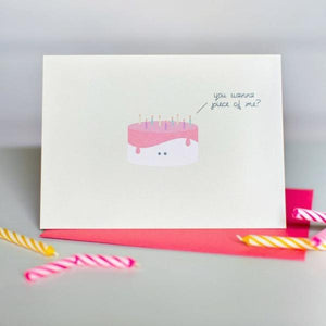 Paper Hearts - Greeting Card - You Wanna Piece Of Me?