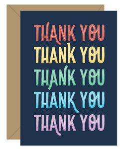 Hello Sweetie Design - Greeting Card - Thank You Rainbow