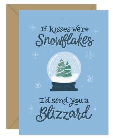 Hello Sweetie Design - Holiday Card - If Kisses Were Snowflakes I'd Send You A Blizzard