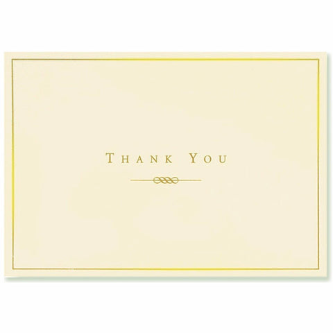 Peter Pauper - Boxed Notes - Thank You - Gold and Cream