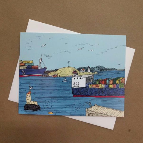 Emma Fitzgerald - Greeting Card - Georges Island
