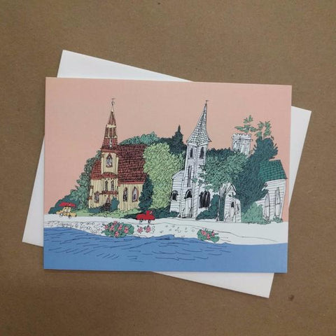 Emma Fitzgerald - Greeting Card - Churches in Mahone Bay