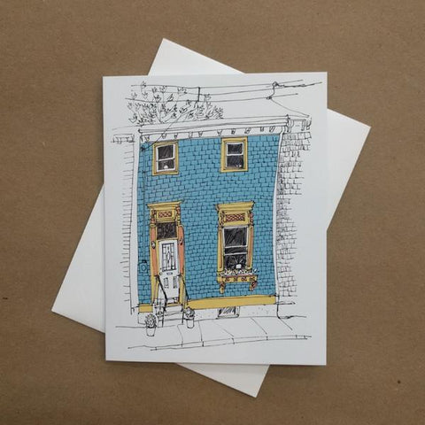 Emma Fitzgerald - Greeting Card - Blue House