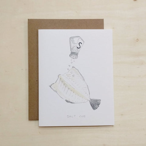 Kat Frick Miller - Greeting Card - Salt Cod