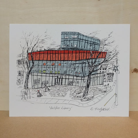 "Emma Fitzgerald - Art Print - ""New Halifax Library"""