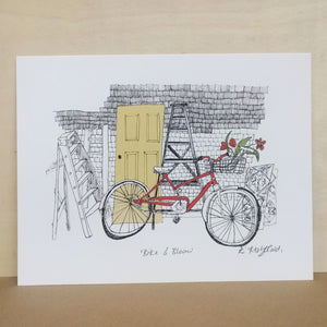 "Emma Fitzgerald - Art Print - ""Bike & Bloom"""