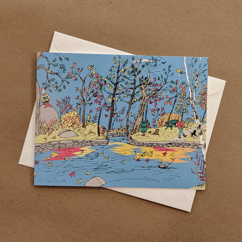 Emma Fitzgerald - Greeting Card - Point Pleasant Park - Duck Pond
