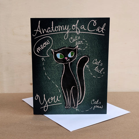 Meaghan Smith Creative - Greeting Card - Anatomy Of A Cat