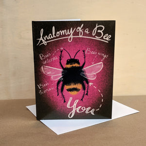 Meaghan Smith Creative - Greeting Card - Anatomy Of A Bee